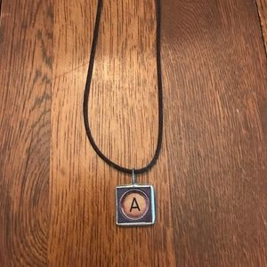 Letter A Reversible Pendant necklace